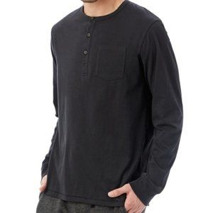 Alternative Apparel Classic Black Henley - L - NWT